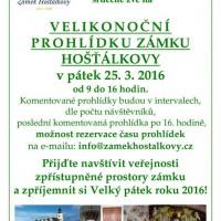Velikonoční prohlídka - zámek Hošťálkovy