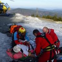2016-04-02 - zásah záchranářů na Lysé Hoře v Beskydech